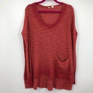 Moth Anthropologie Oversized Knit Rose Sweater S